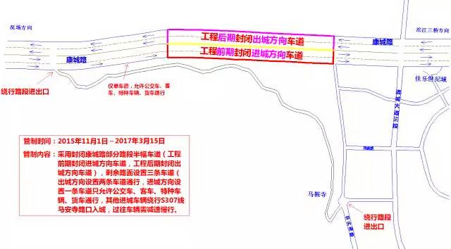 沱江四桥及连接线工程施工 康城路将半幅通行